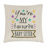 You're My Favourite Baby Sitter Stars Cushion Cover Pillow Funny Best