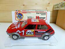 Vintage Burago Fiat Ritmo Abarth  Rally  1:24   1970's Boxed