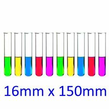 10 x Borosilicate Boiling Test Tube 16mm x 150mm with rim