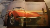 ORIGINAL 1970 CHEVROLET CORVETTE DEALER SALES BROCHURE