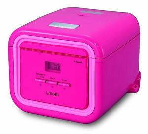 Tiger JAJ-A55U PP 3-Cup (Uncooked) Micom Rice Cooker with Slow Cook, Steam PINK