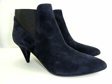 Kate Spade Women's New York Yana Navy Kid Suede Ankle Boots Size 9