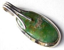 Nephrit-Anhänger, in 925er Silber