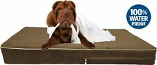 Waterproof Orthopedic Memory Foam Pet Bed Dog Bed w/ durable suede zipper cover