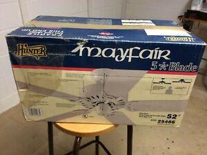 Hunter Mayfair 5 Blade Ceiling Fan, 52 Inch in White