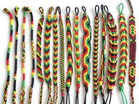 Rasta Friendship Bracelet Surfer Hippy Boho Wristband Cotton Silk Reggae Jamaica
