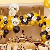 45pcs Black Gold Party Decorations  Birthday Wedding Party Graduation Decoration