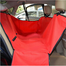 Pet Dog Cat Car Back Seat Cover Travel Hammock Auto Protector Liner Red