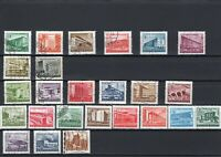 Hungary stamps 1951-1953 used, architecture 5 sets see description