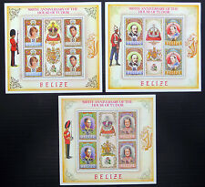 BELIZE Wholesale 1984 House of Tudor Set of 3 Sheetlets U/M NB802