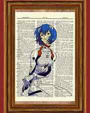 Ayanami Rei Evangelion Dictionary Art Print Poster Picture Manga Girl Anime Book