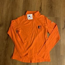 Women's Baltimore Orioles Under Armour Orange Passion Half-Zip Pullover Medium