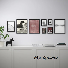Ikea KNOPPANG Frame with Poster Picture Modern, Set of 8 Black NEW