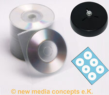 Mini CD Rohlinge 200 MB + Etiketten + PP Stecktaschen + Labelhilfe 50 Stück