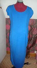 Bnwt maternité bleu à manches courtes froncé détail robe taille 14