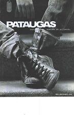 PUBLICITE ADVERTISING    2006  PATAUGAS chaussures baskets en noir et blanc