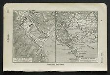 Antica Mappa Topografica.SPEZIA e Dintorni.Meyers.1907a