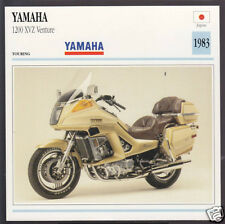 1983 Yamaha 1200cc XVZ Venture 1198cc Japan Bike Motorcycle Photo Spec Info Card