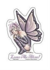 Krisgoat Purple Fairy Crouched Down Leave Me Alone Sticker Die-cut Window Decal