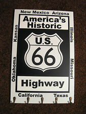 ROUTE 66 SIGN KEY HOLDER HAT RACK AMERICAS HISTORIC HIGHWAY MAN CAVE