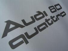 """""""Audi 80 quattro""""  / Urquattro Aufkleber im org. Rasterdruck Typ 81 / 85 schwarz"""