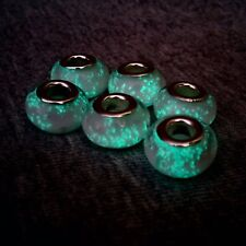 Luminous dread bead set 3x, light in the dark dreadlock beads set, glass beads