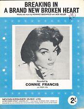 Breaking in un cuore spezzato Nuovo di zecca-CONNIE FRANCIS - 1961 SPARTITI MUSICALI