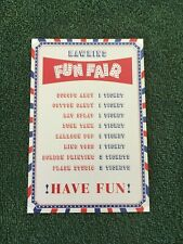 Stranger Things 3 - HAWKINS FUN FAIR - Promotional Ticket Board 4x6 Postcard