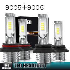 9006+9005 LED Headlight 160W 3200LM Hi-Lo Beam Combo Kit 6000K HID Lamp Power