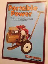 TARPEN Generators Preci  - Tarpen Original Vintage 1970s Sales Brochure Poster