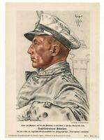 image propagande allemande. Lt-Capitaine Otto SCHUHART qui coula le Courageous.