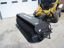 "Sweepster 84"" Skid Steer Loader Hydraulic Angle Broom - 12-25 GPM - Ships Free"