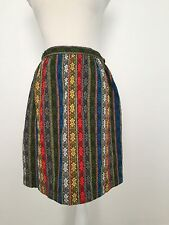 Women's Vintage Skirt Bold Colorful Mini Above Knee Funky Design Handmade