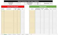 StockX Sales Profit & Fees Tracker - Excel Spreadsheet