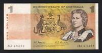 Australia R-72S. (1967) One Dollar..Coombs/Randall - STAR Note.. ZAG Prefix.. F