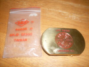 Vintage 1980 Baron Belt Buckle Solid Brass Inner Circle Lakewood NJ Life Member