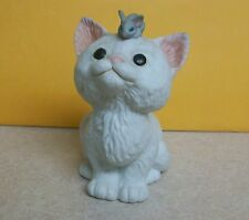 1988 Cat Kitten Looking at Mouse on Head Kathy Wise Enesco Figure Figurine