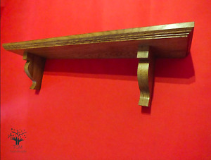 CUSTOM s41 Solid Oak Shelf | Traditional Hardwood Shelf | Supported Oak Brackets