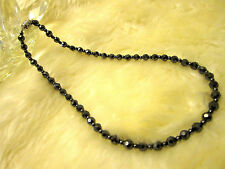 """Magnetic / hematite necklace 16.5"""" –  diamond-cut beads 6mm AAA+, FREE SHIPPING!"""