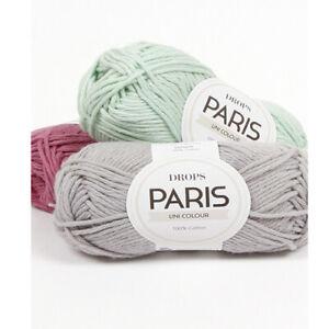 DROPS PARIS 100% Cotton Yarn Aran Weight 50g