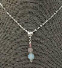 Fertility Necklace Moonstone Gemstone Rose Quartz Crystal IVF Pregnancy