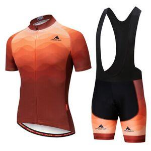 Men Cycling Jersey Bib Set MTB Bike Jersey &  Bib Short Set Size M Chest 38.5''