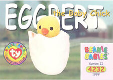 Ty Beanie Babies Bboc Card - Series 2 Common - Eggbert the Baby Chick - Nm/Mint
