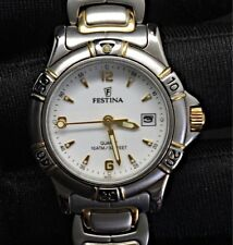 Festina 9825 Steel Woman Watch NOS New 26,5mm