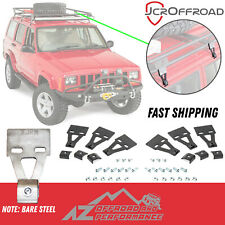 JCR Offroad Roof Rack Mounts - 6 Piece Set - Bare Steel - 84-01 Jeep Cherokee XJ