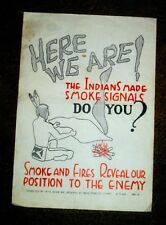 Apr 7 1942 10/84th Engineer Bns Smoke & Fire Reveal Our Position to Enemy Poster