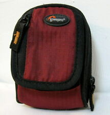 Lowepro Ridge 10 Camera Zipper Soft Bag Case w/ Shoulder Strap Red EXCELLENT