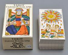 TAROT CLAUDE BURDEL 1751 MARSEILLE LIMTED ED. REPLICA CARD DECK + WRAP *NIB*