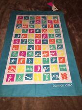 NWT London 2012 Olympic Games Tea Towel Silhouette Pictogram Souvineer