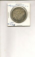 1908-S 80% Silver 1 Peso Coin American Occupation of Philippines!